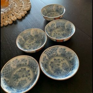 GUMP'S set of 5 vintage bowls made in Japan